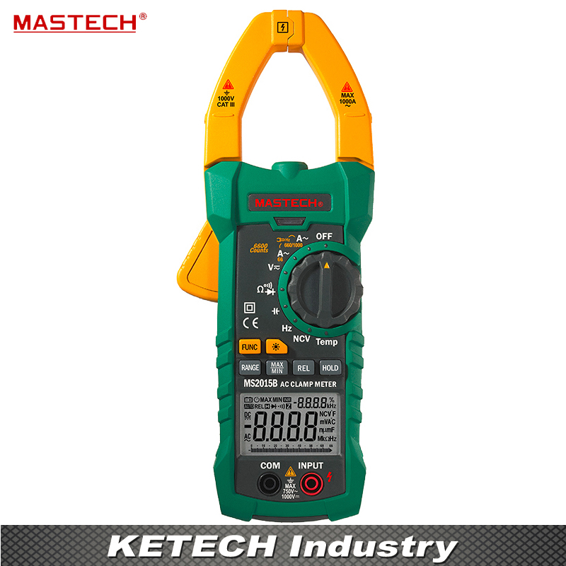 Digital Clamp On Meter Meters Frequency Resistance Capacitance Multimeter Mastech MS2015B my68 handheld auto range digital multimeter dmm w capacitance frequency