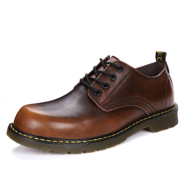 Chất Lượng cao Chính Hãng Da Mềm Mại Cổ Điển Nam Giày Người Đàn Ông Giày Thời Trang Người Lớn Căn Hộ Oxford Làm Việc Giày Dép Giản Dị Giày