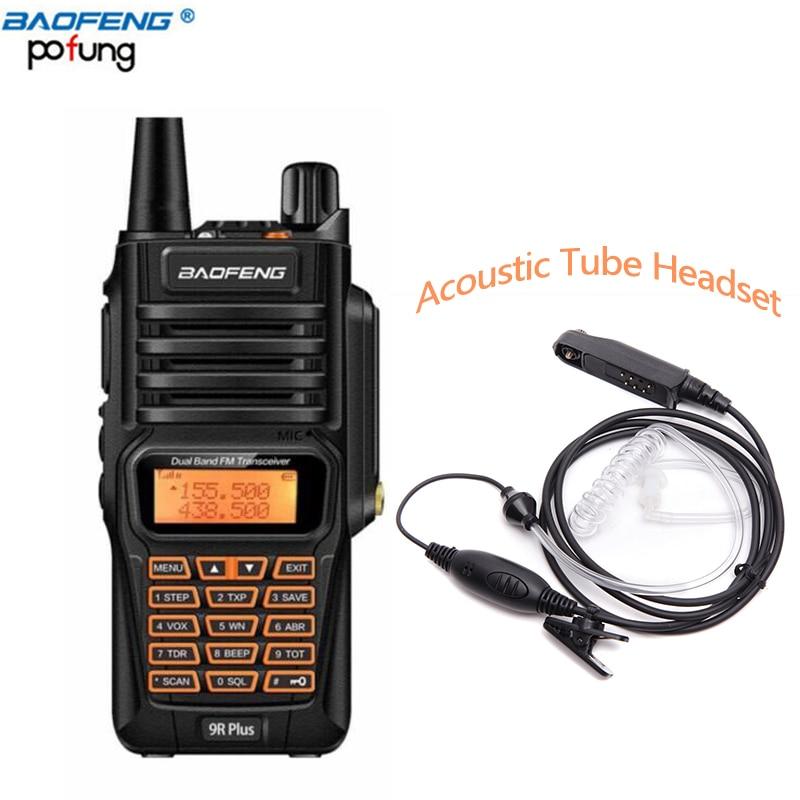 Baofeng UV-9R Plus IP67 Étanche Talkie Walkie 8 W 2800 mAh 128CH VHF UHF FM Radio Alarme Professionnel UV 9R Deux Façon Radio