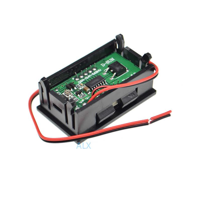 """1 cái HAI DÂY 0.56 """"red LED Kỹ Thuật Số vôn kế 0.56 inch LCD dc 5 v-120 v Điện Áp meter Monitor Tester"""