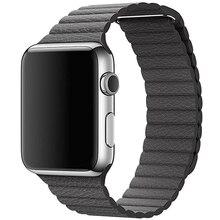 Lujo tipo reloj de pulsera correa de cuero de imitación loop band para apple watch 38mm