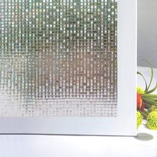 Funlife 90x200cm Stained Glass Window Film Vinyl Self-adhesive Privacy Covering Sticker 3D Decor