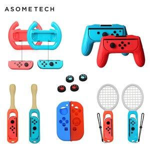 Image 1 - 14 In 1 Accessoires Voor Nintend Schakelaar Controller Grip Wielen Tennisracket Drum Stick Voor Taiko Soft Case Voor Nintendo schakelaar