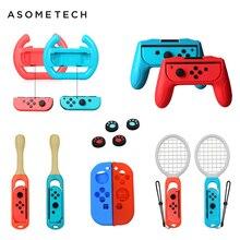 Accesorios 14 en 1 para mando de Nintendo Switch, agarre de ruedas, palo de tambor de raqueta de tenis para Taiko, funda blanda para Nintendo Switch