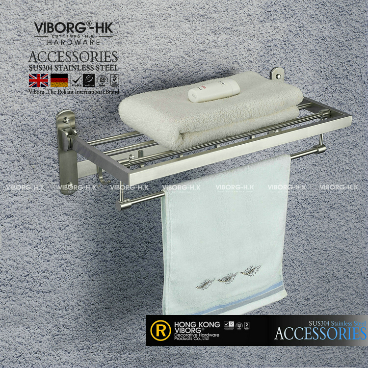 VIBORG Deluxe SUS304 Stainless Steel Foldable Wall Mounted Bathroom ...