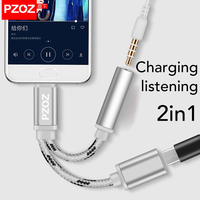 PZOZ mobile phone cable 2 in 1 type c to audio Adapter 3.5mm jack High Quality for xiaomi huawei cell headphone type-c cables