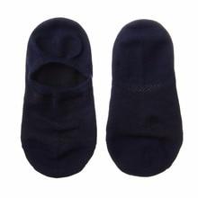 JUMEAUX 3 Pairs Men Cotton Low Cut Men's Loafer Boat Non-Slip Invisible Liner Low Cut Socks 2017 Wholesale