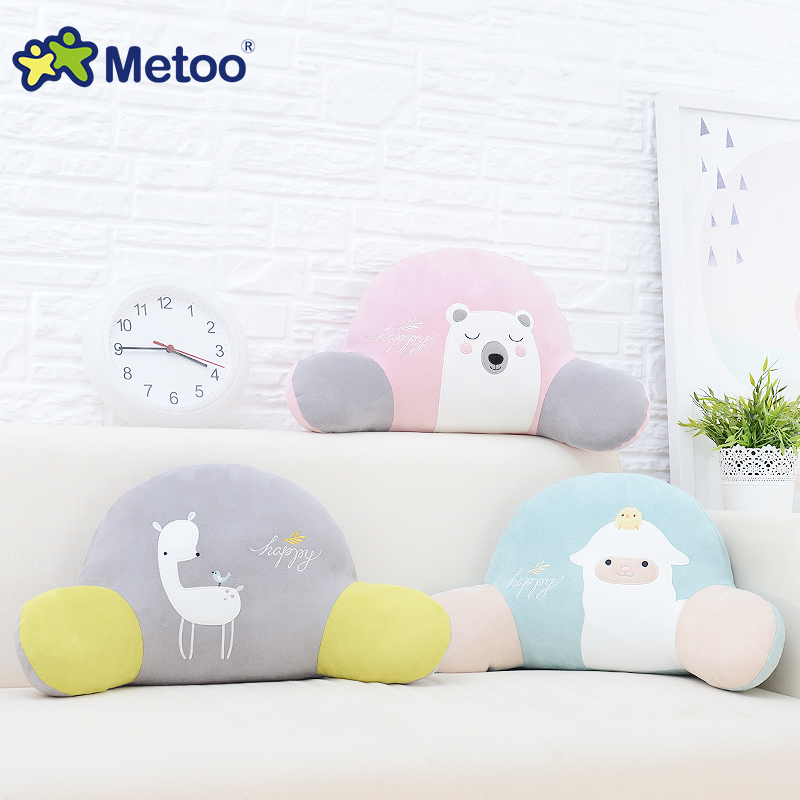 Candice guo plush toy stuffed doll metoo cartoon animal pattern car seat chair waist pillow cushion children birthday gift 1pc