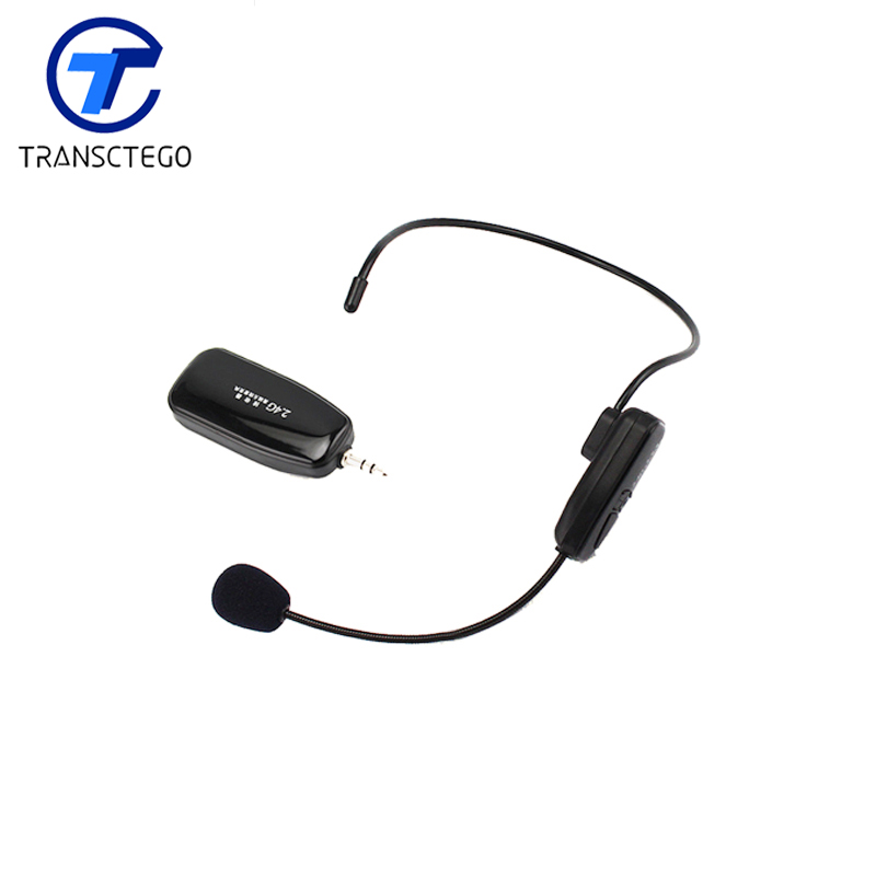 2.4G wireless microphone for teaching guides conference, head microphone audio for computer
