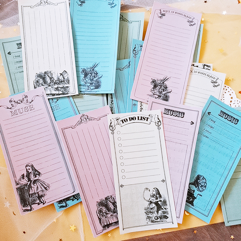 24pcs\set Retro Alice Music\muse\list Material DIY Craft Photo Albumsscrapbooking Stickers /Planned Note /junk Journal