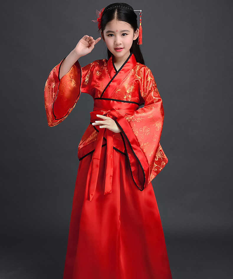 74ca1b1793 New Arrival Beautiful Chinese National Clothes Girls Vintage Dress Costume  Kids New Years Eve Dresses for Girls Fancy