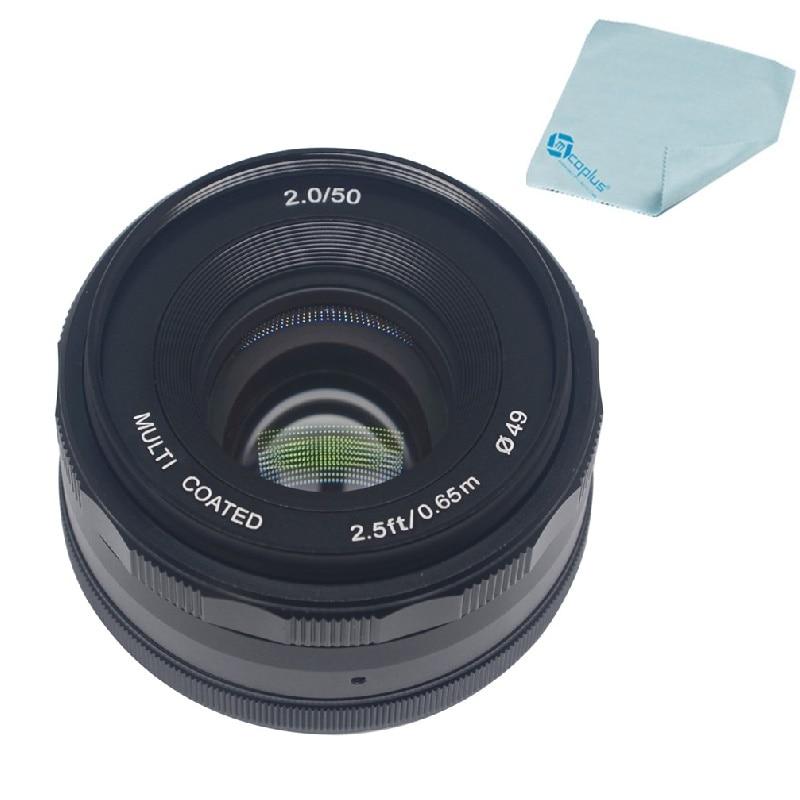 Mcoplus Meike 50mm f/2.0 Prime Fixed Manual Focus Lens large Aperture for Nikon 1 Mount Mirrorless APC-S Camera V1 V2 J1 J2 60mm f 2 8 2 1 2x super macro manual focus lens for nikon f mount d7200 d5500 d760 d610 d90 camera