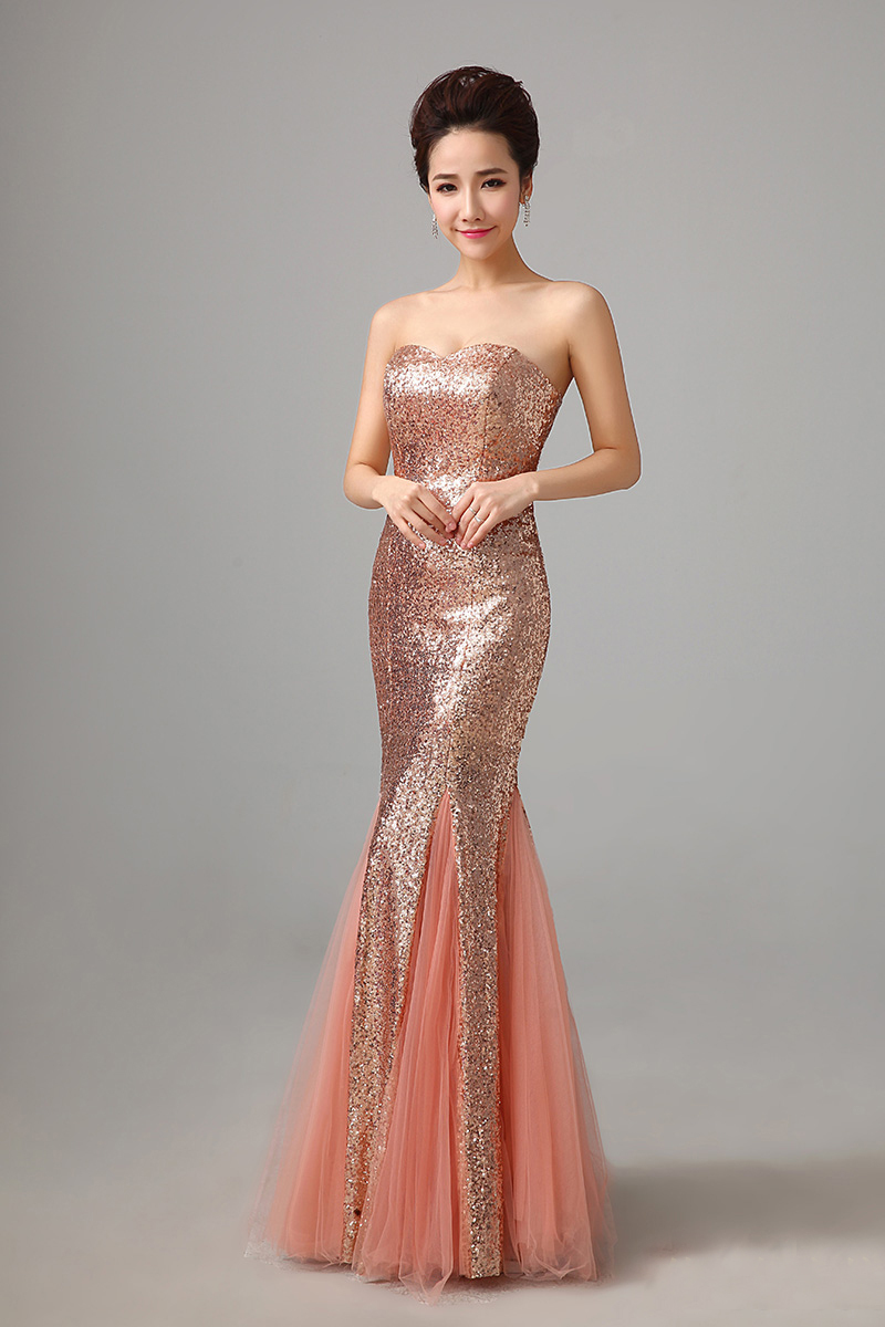 long evening dress 2015 hot sell bride sexy strapless