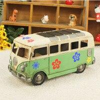 Творческий Изделия из металла прекрасный цветок печати из металла классическая модель автобуса hand made металла автомобиля Сувенирный магази...