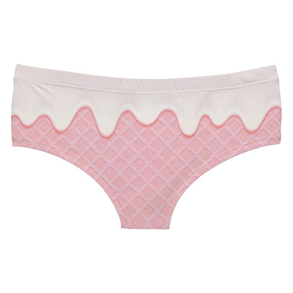 LEIMOLIS Pink Ice Cream funny print sexy hot panties female kawaii Lovely underwear push up briefs women lingerie thongs in women 39 s panties from Underwear amp Sleepwears