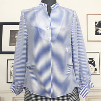2018 spring and summer new European and American women's clothing D Di home striped shirt wholesale spot supply