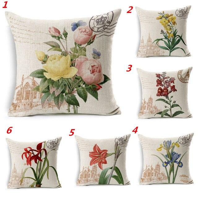 Maiyubo All\'ingrosso 7 Colori Naturali Fiore fodere per Cuscini ...