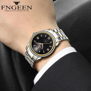 Image 3 - Montres mécaniques pour hommes marque de mode luxe Date calendrier montre bracelet homme automatique en acier montres squelette Relogio Masculino
