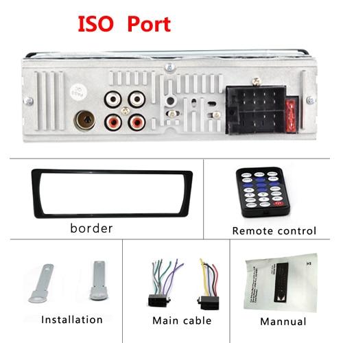 AMPrime Bluetooth Авторадио Стерео радио FM Aux вход приемник SD USB JSD-520 12 В In-dash 1 din автомобильный MP3 мультимедийный плеер - Цвет: ISO Port