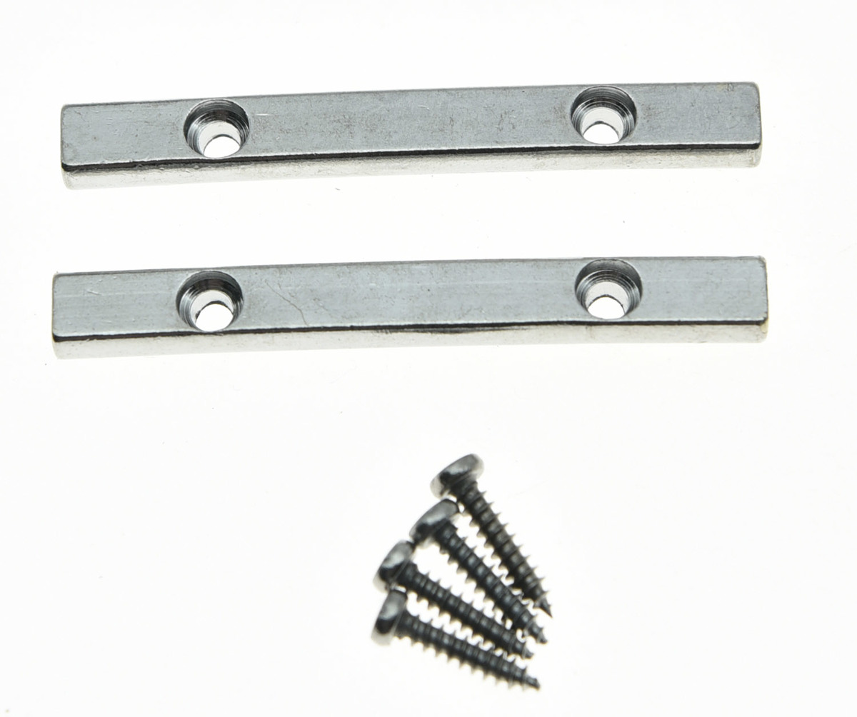 KAISH 2x 44.5mm Chrome Electric Guitar String Retainer Bar for Floyd Rose Guitar