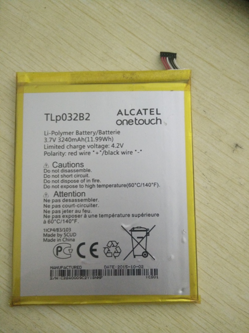 3240mAh Tablet Lithium Battery Bateria TLp032B2 For ALCATEL onetouch pop 7 P310A P310 P310A Pixi 7 9006W second-hand аксессуар защитная пленка alcatel onetouch pop d5 5038d media gadget premium прозрачная mg998