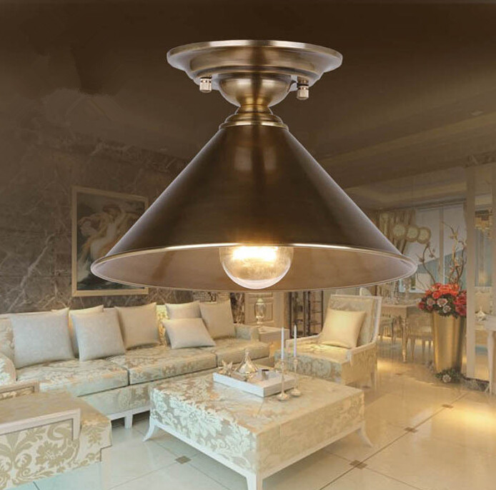 American Copper Balcony Aisle Ceiling Lamp Simple Industry Retro Corridor Restaurant Ceiling Light Free Shipping european retro nostalgia classical ceiling lamp living room restaurant aisle stairs balcony ceiling lamp free shipping