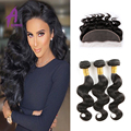 8A Lace Frontal With Bundles Body Wave Brazilian Virgin Hair With Frontal Closure 3 Bundles Deal Virgin Brazilian Body Wave Hair