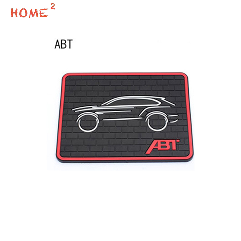 Car Styling Anti-Slip Pad PVC Phone Glasses Non-slip Mat Interior Accessories for ABT Logo for Volkswagen VW CC Jetta POLO Golf car interior rear cargo trunk mat pad 1set artificial leather for honda crv cr v 2017 2018 car accessories styling