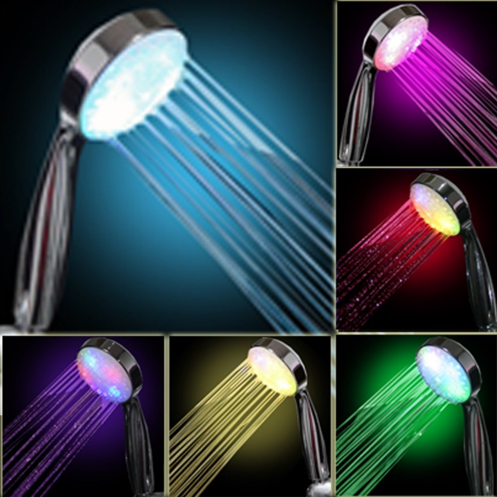 aliexpress com buy 7 color led shower head romantic lights water