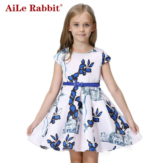 f11bc1059 AiLe Rabbit Baby Girls Dress 2016 Princess Dress for Girls Clothes ...