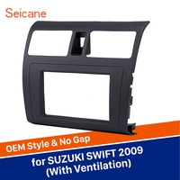 Seicane 2Din Audio Frame Face Plate Dash Kit Cover Trim Car Stereo Radio Fascia Panel For 2009 Suzuki Swift with Ventilation