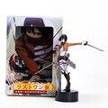 Anime Attack on Titan Figure 14cm Shingeki no Kyojin Mikasa Ackerman PVC Action Figure Collectible Model Toy With Retail Box