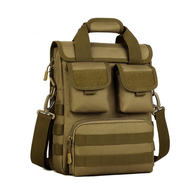Prix pour Multi-fonction Militaire Nylon Sac Étanche Camouflage Hommes Sacs À Main A4 Unique Épaule Sac 2016 Livraison Gratuite Z145
