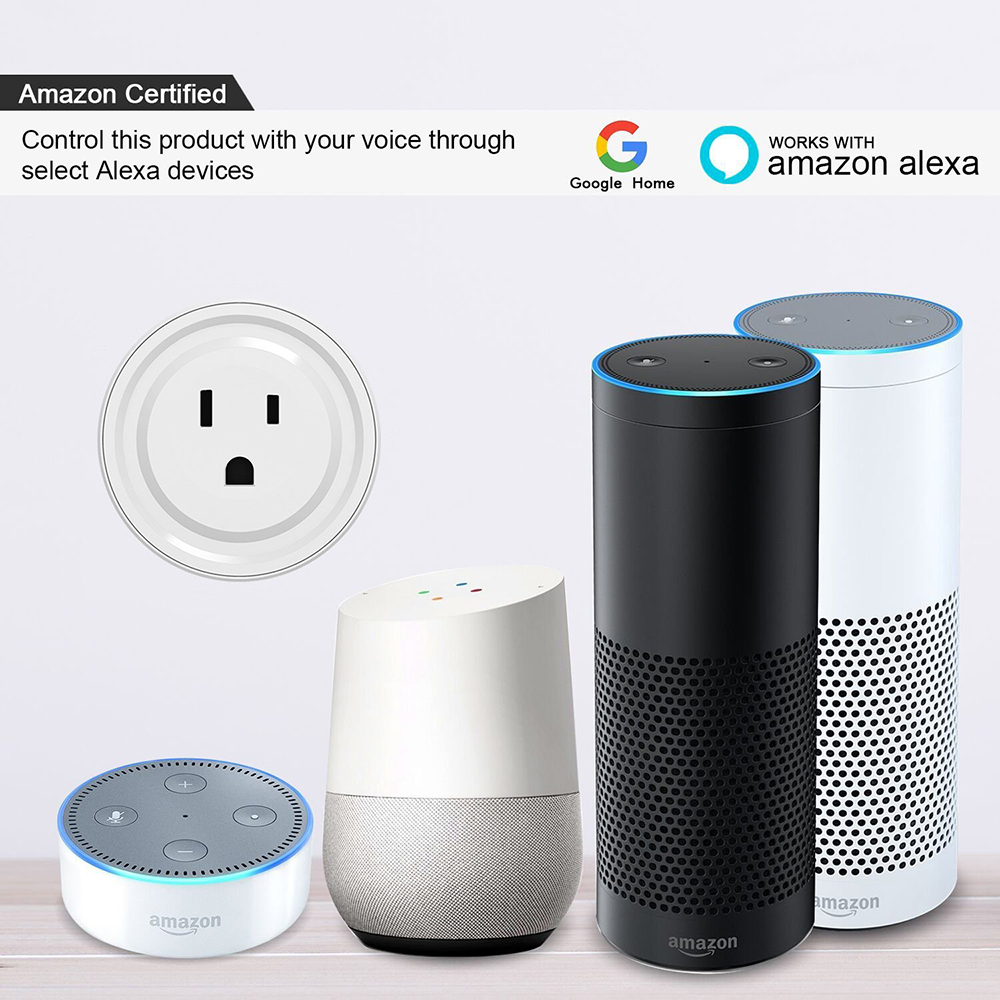 ZINUO 10A WiFi Google Home Mini Smart Plug APP Remote Control Timing EU/US Round Smart Socket For Andriod/Ios/Alexa/Google Home цена 2017