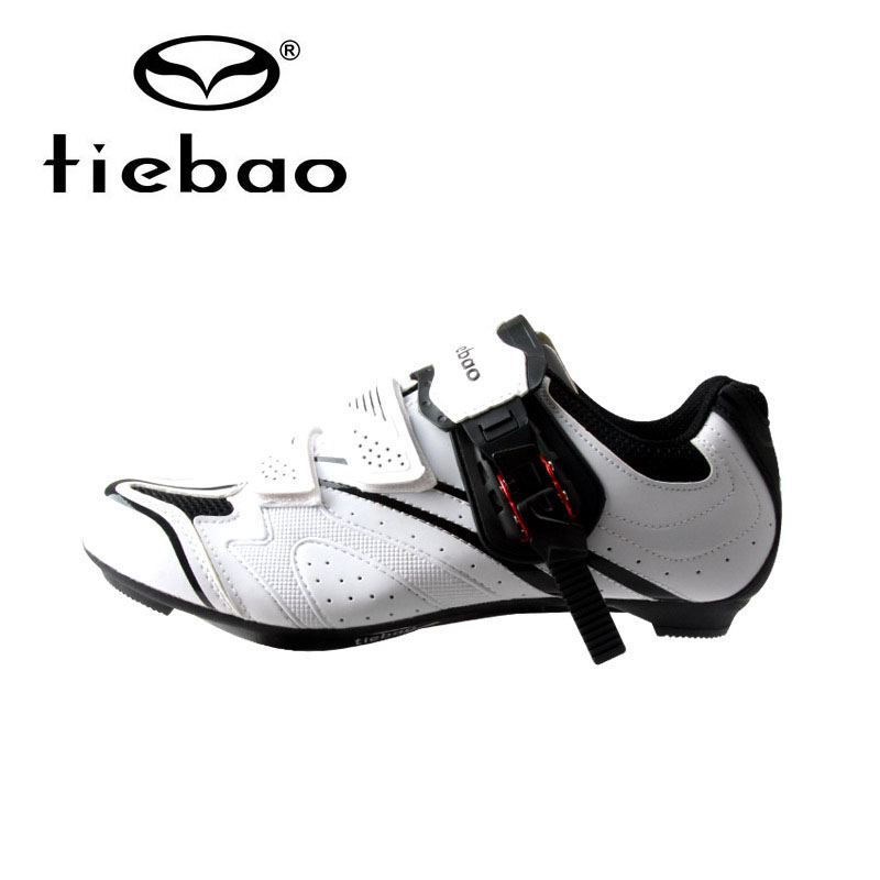 TIEBAO Cycling Shoes Road Bike Shoes Men Bicycle Self-locking Road Bike Shoes Breathable Non-slip Bicycle Road Shoes Black White tiebao tiebao b1285 recreational cycling shoes black green size 42