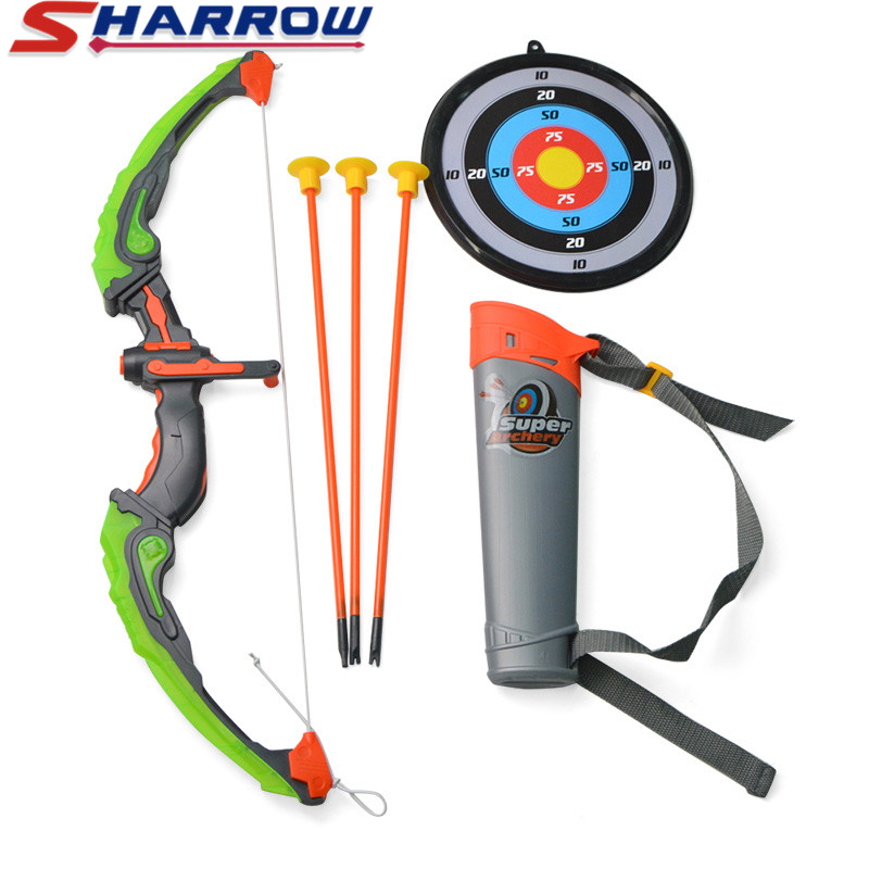 1 Set Kids Archery Bow with Arrow Safe Shooting Hunting Game  Park Children Practice