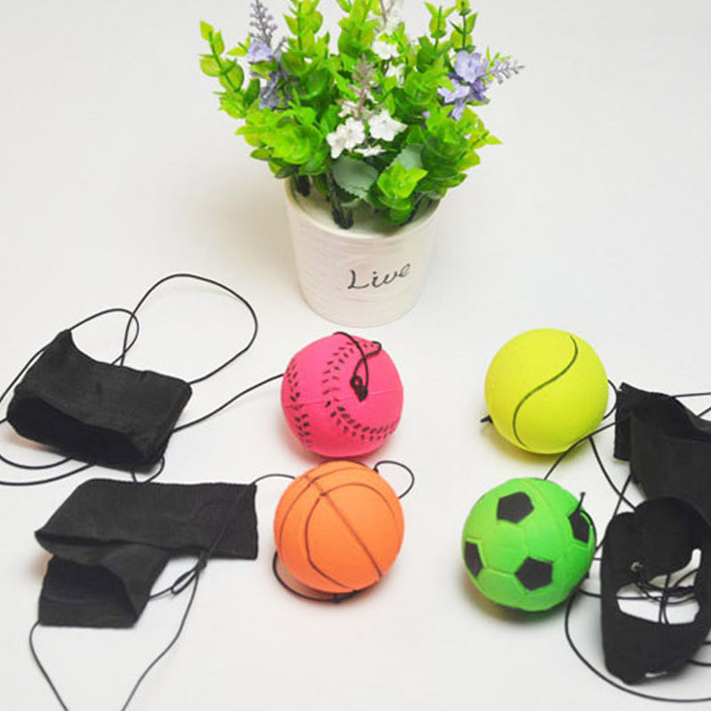 Return Sponge Rubber Hand Ball Game Toy Ball Exercises Bouncing Elastic Sport On Nylon String Children Kids Outdoor