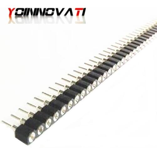 10 pces 1x40pin 2.54mm 1x40 pinos 2.54 conector fêmea redondo do encabeçamento do pino
