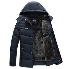 Parka Men Coats 2021 Winter Jacket Men Thicken Hooded Waterproof Outwear Warm Coat Fathers' Clothing Casual Men's Overcoat