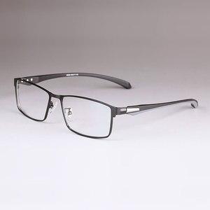 Image 3 - 男性チタン合金眼鏡フレーム男性眼鏡柔軟な寺院脚 ip 電気めっき合金材料、フルリムとハーフリム