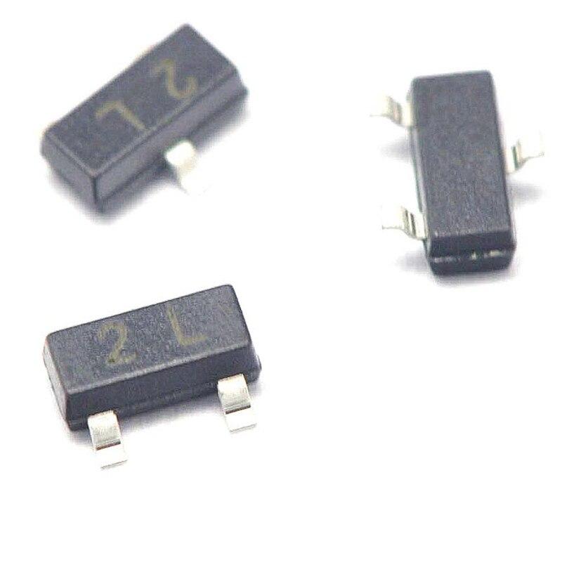 100PCS LOT Patch font b Transistor b font MMBT5401 2L 0 6A 180V PNP SOT23