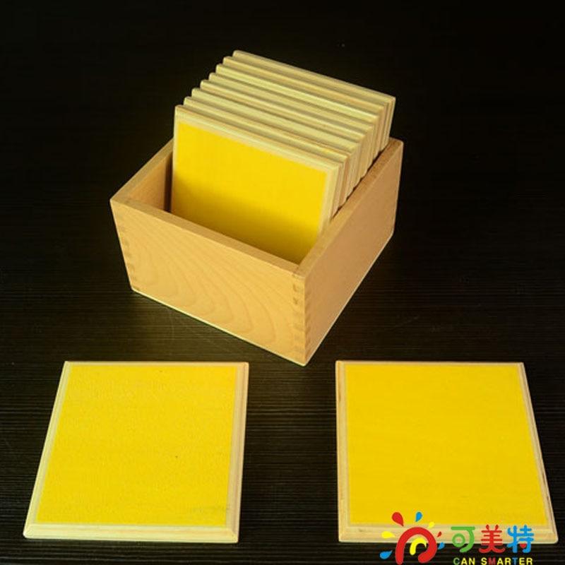 ФОТО Montessori Education Smooth Gradation Tablets  Beech Wood  Sensory toys Early educational toys Can Smarter Free Shipping
