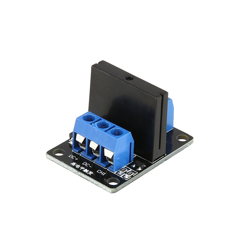 1 Channel Solid State Relay Module Board High Level Trigger SSR Input 5V DC Output 240V AC 2A Fuse for Arduino PLC Controller