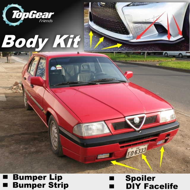 Bumper Lip Deflector Lips For Alfa Romeo 33 155 Ar Front