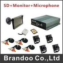 4CH font b CAR b font DVR Kit With SD Card 4 Pieces IR font b