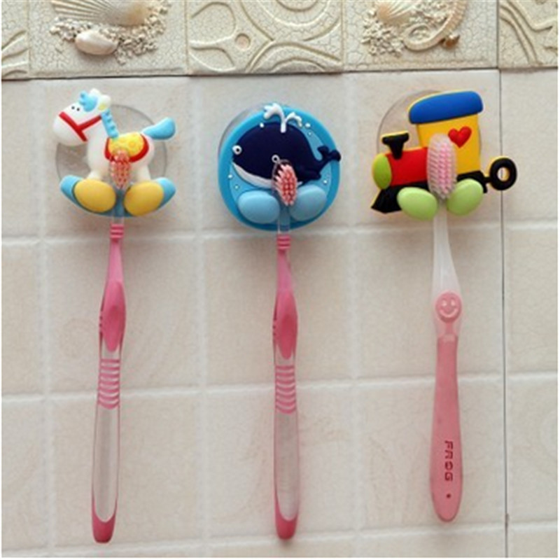 1pc Cute Minion Cartoon Suction Cup Toothbrush Holder