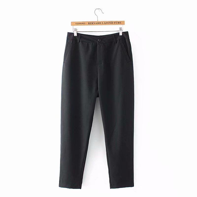 F42 Autumn Plus Size Women Clothing Ankle-length Pants 4XL Casual Fashion Loose straight Pants 8802 1