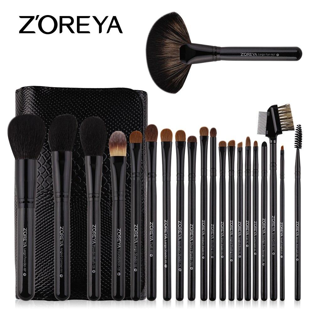 ZOREYA Make Up Brush Set Sable Cheveux 21 pcs Professionnel Maquillage Brosses Poudre Fondation Blush Ombre À Paupières Brosse