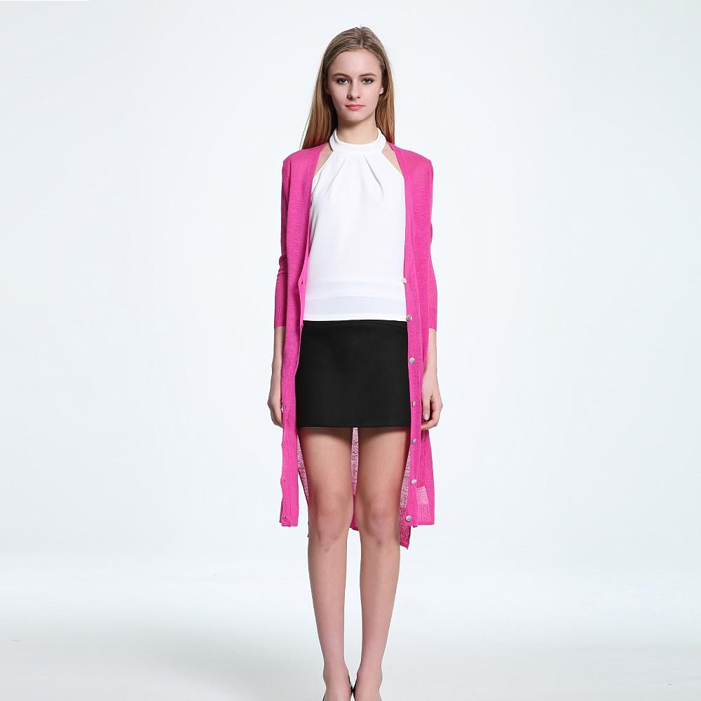 9550724c1fd BooLawDee Summer nice linen knitted women shirt sun anti fashion ...