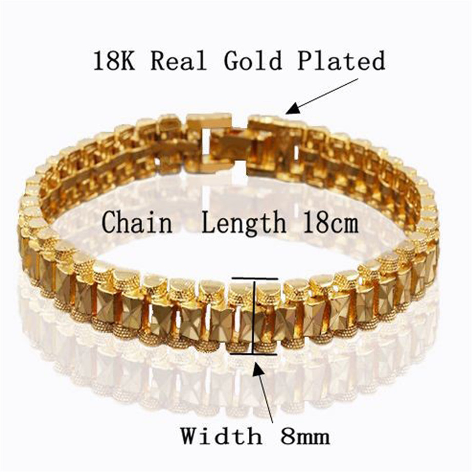Chunky Mens Hand Chain Bracelets Male Wholesale Bijoux Silver/Gold Color Chain Link Bracelet For Men Jewelry pulseira masculina 4